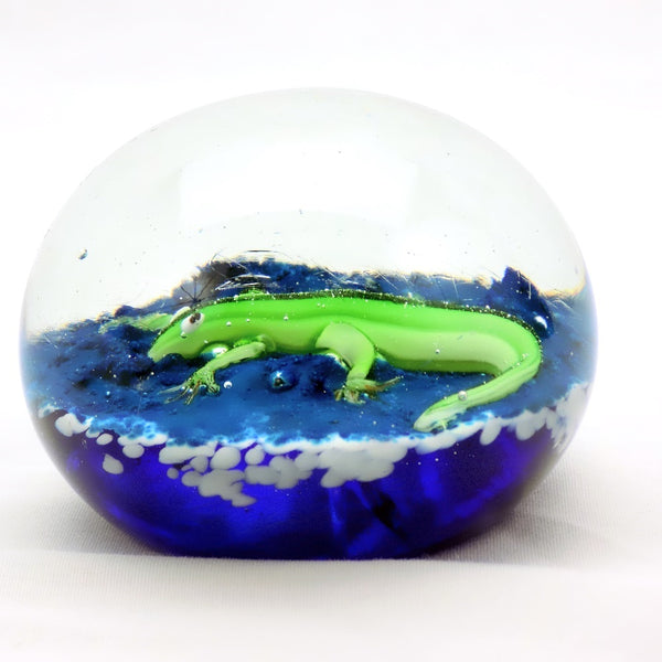 Art Glass Paperweight Gecko #23 | OneGreatShop.com