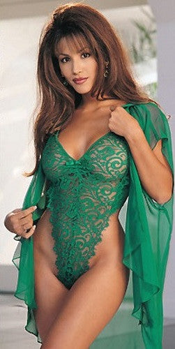 Lingerie | Jade Green Lingerie Teddy and Robe XL