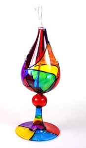 Art Glass | Painted Glass Candle Cup, Oil Lamp, Ornament
