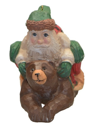 Holiday | Christmas Ornaments Santa on Bear #4