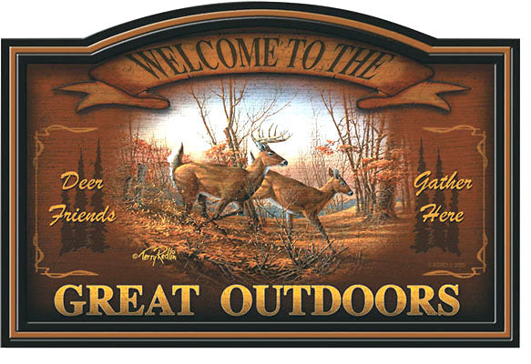 Autumn Run Wood Sign by Terry Redlin