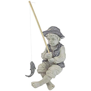 Boy Fishing Garden Statue