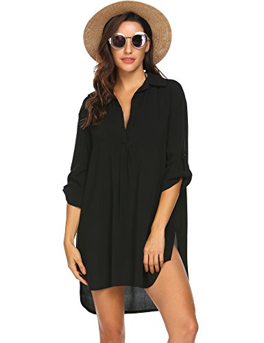 Swimsuit Cover Up Henley Shirts Beachwear for Women