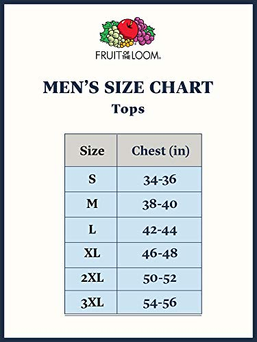 Best Selling Men's Clothes | Fruit of the Loom Men's Crew Neck T-Shirt