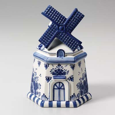 Windmill Delft Cookie Jar