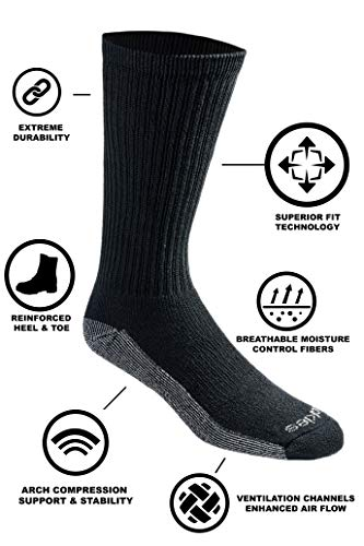 Best Selling Men's Multi-Pack Dri-Tech Moisture Control Crew Socks