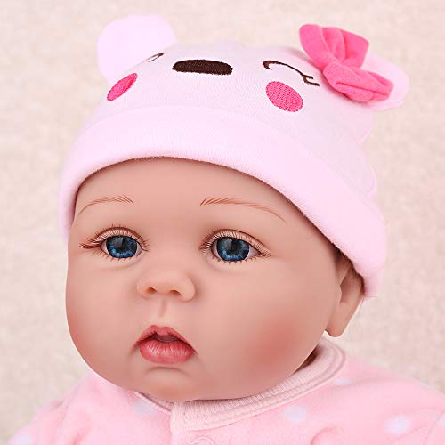 CHAREX Reborn Baby Dolls, 22 Inches Soft Silicone Weighted Body, Lifelike Toddler Girl