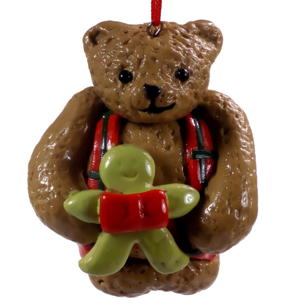 Holiday | Christmas Ornaments Bear with Gingerbread Man #43