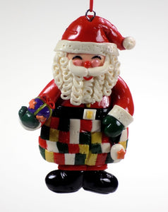 Holiday | Christmas Ornaments Santa Holding Present #48