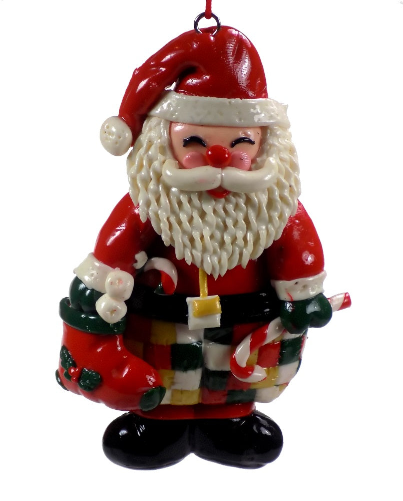 Holiday | Christmas Ornaments Santa with Candy Cane #49