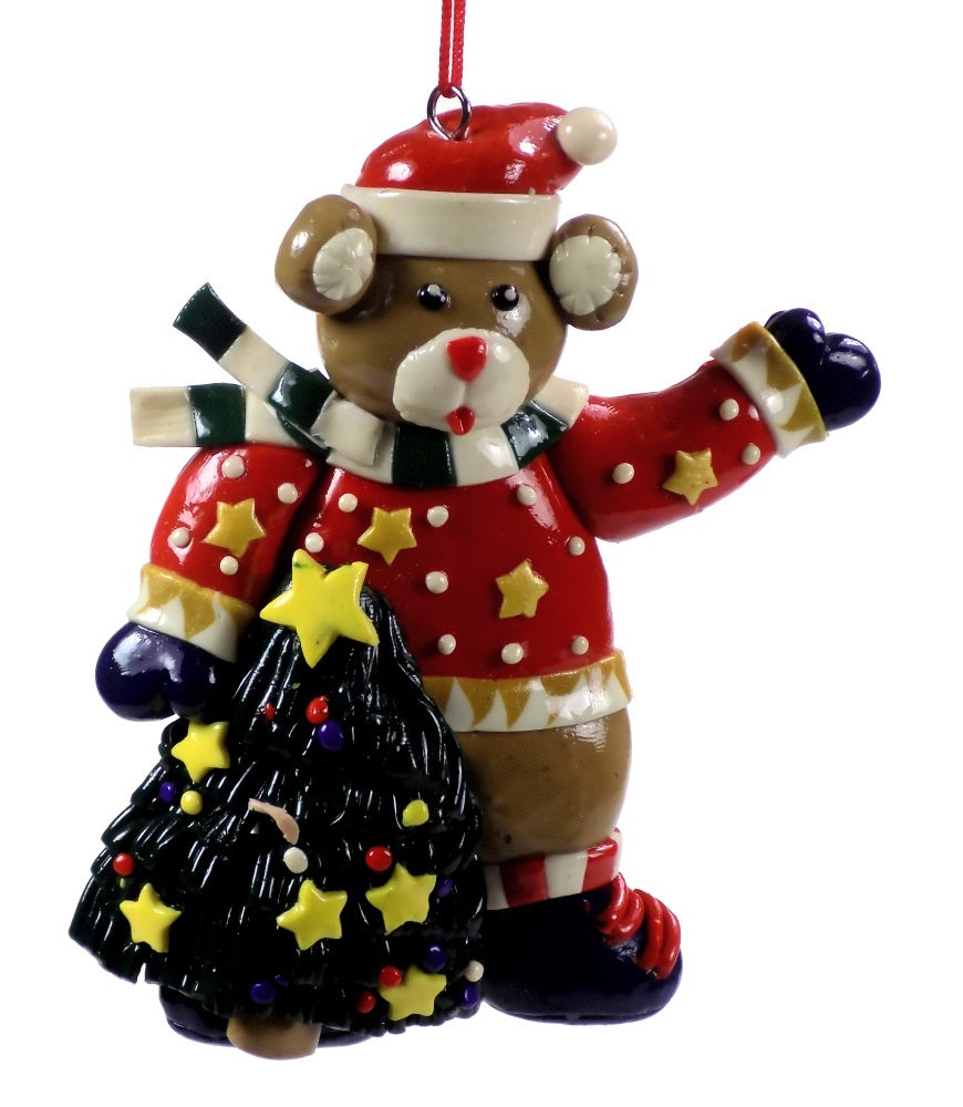 Holiday | Christmas Ornaments Bear with Christmas Tree #51