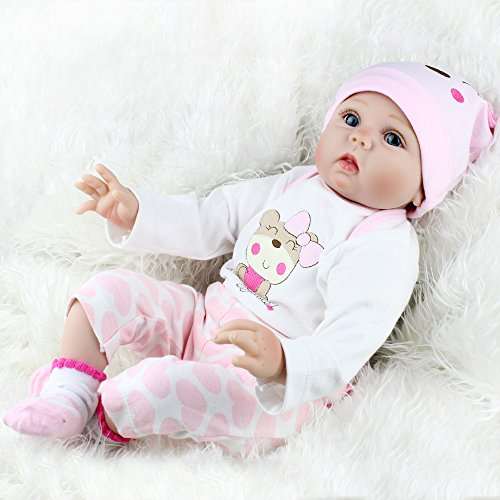CHAREX Reborn Baby Dolls Lucy, 22 inch Realistic Girl Doll, Lifelike Soft Vinyl Weighted Gift Set