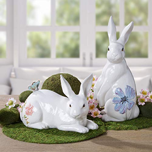 Fitz and Floyd butterfly on the back-end of a bunny rabbit Collectible Figurine