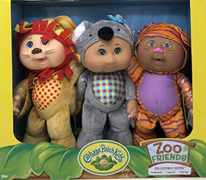 Cabbage Patch Kids Collectible Cuties Zoo Friends 3 Doll Pack