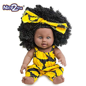 Black Girl Doll African American Baby Doll Lifelike 12inch for Kids
