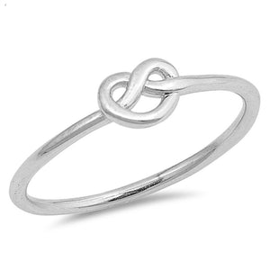 Infinity Heart Love Knot Promise Ring New .925 Sterling Silver