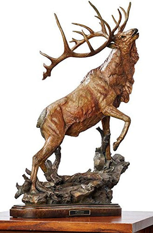 Wild Wings Wild Wings Call to Contest - Elk Sculpture by Stephen Herrero,Brown