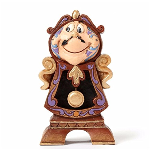 "Disney Traditions by Jim Shore ""Beauty and the Beast"" Cogsworth Stone Resin Figurine"