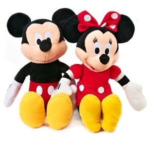 "Disney Mickey and Minnie Plush Dolls (15"")"