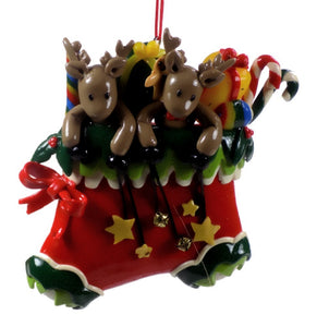 Holiday | Christmas Ornaments Reindeer in Christmas Stocking #53