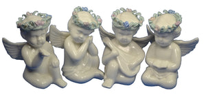 Angel Figurines Set of 4 Cherub type Angels