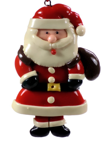 Holiday | Christmas Ornaments Santa with Brown Bag #60