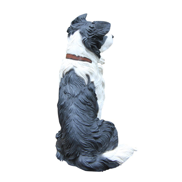 Border Collie Statue Resin Dog Figurine
