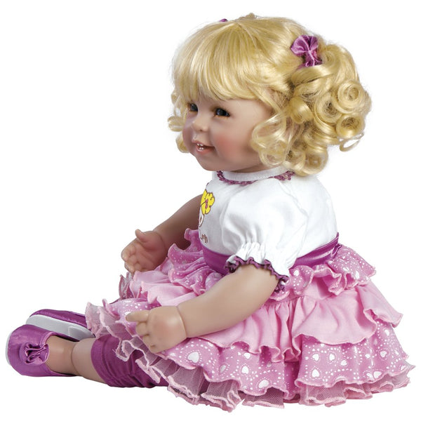 "Adora Toddler Little Lovey 20"" Girl Weighted Doll Gift Set Huggable Vinyl Soft Body Toy"