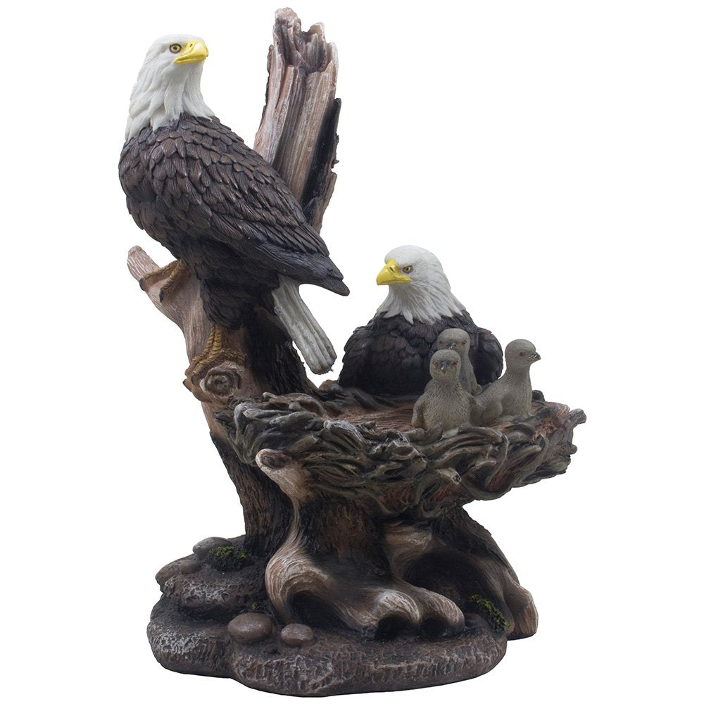 Wildlife American Bald Eagle Sculpture Statue