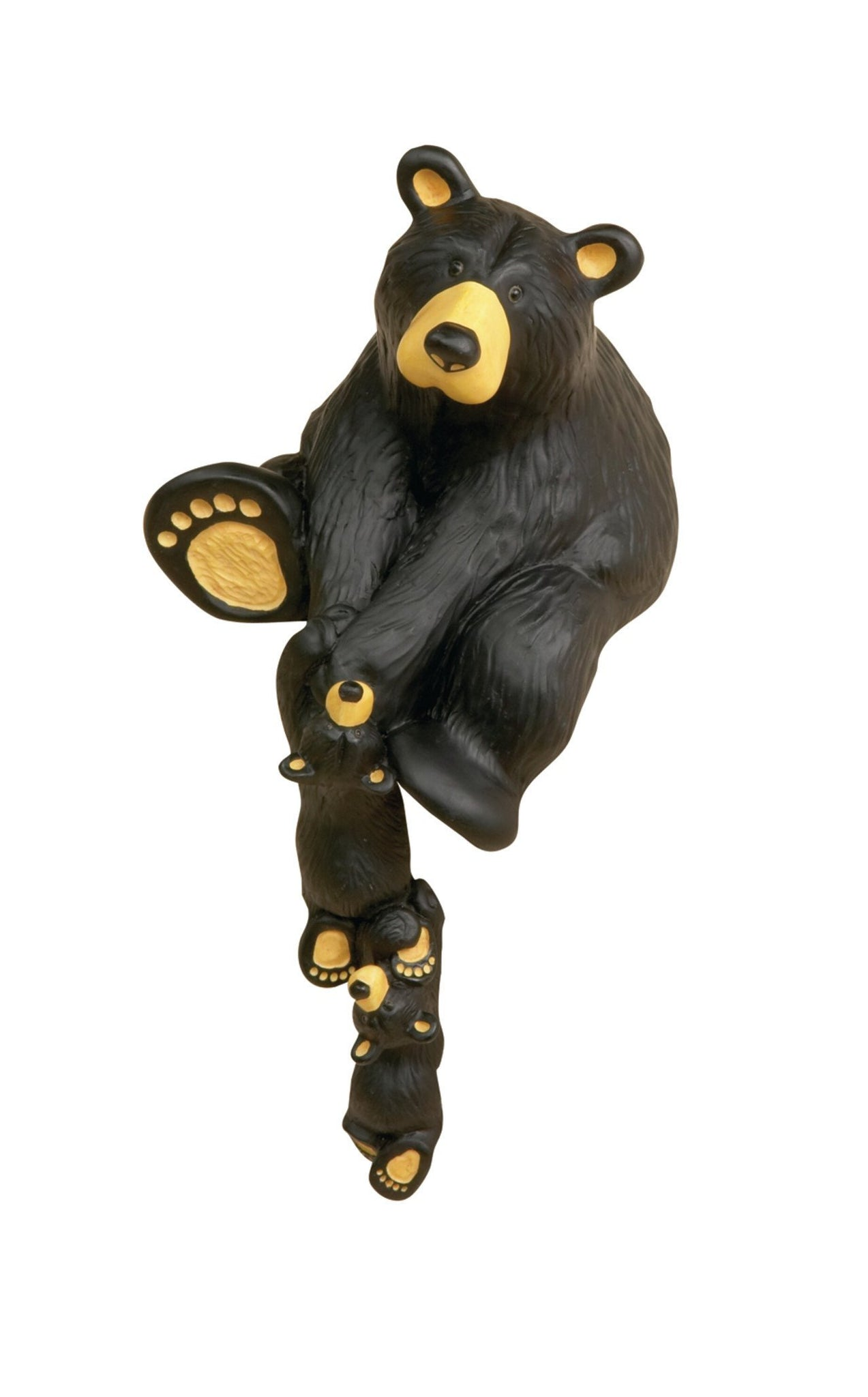 Helping Paw Momma Black Bear Hand-cast Resin Shelf Sitter Figurine