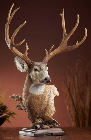 Mule Deer Sculpture by Stephen Herrero