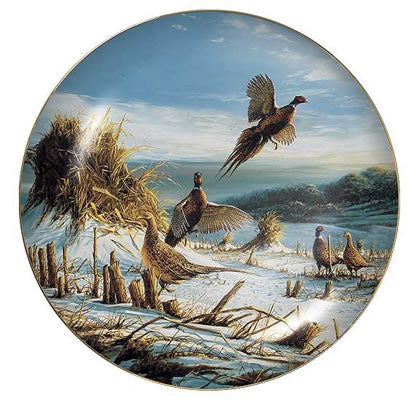 Collector Plates | Startled Pheasants Collector Plate by Terry Redlin