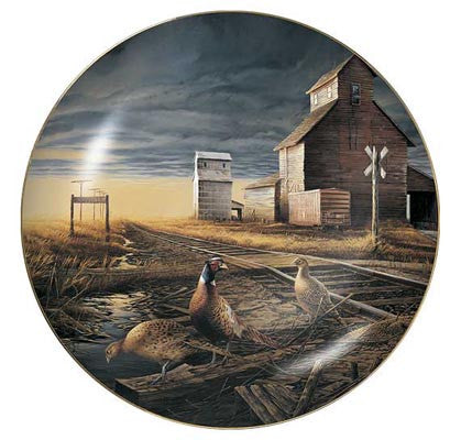 Collector Plates | Prairie Skyline Pheasants Collector Plate by Terry Redlin