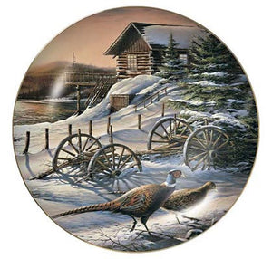 Collector Plates | Peaceful Evening Pheasants Collector Plate by Terry Redlin
