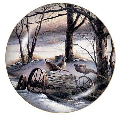 Collector Plates | Rusty Refuge Pheasants Collector Plate by Terry Redlin