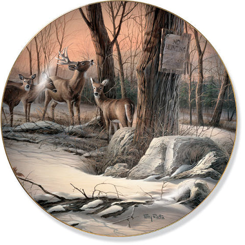 Collector Plates | Back to the Sanctuary Deer Collector Plate by Terry Redlin