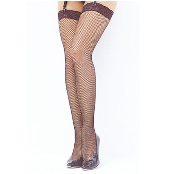 FISHNET STOCKINGS With stretch lace tops