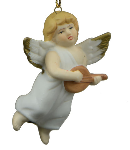 Holiday | Christmas Ornaments Angel with Mandolin Ornament
