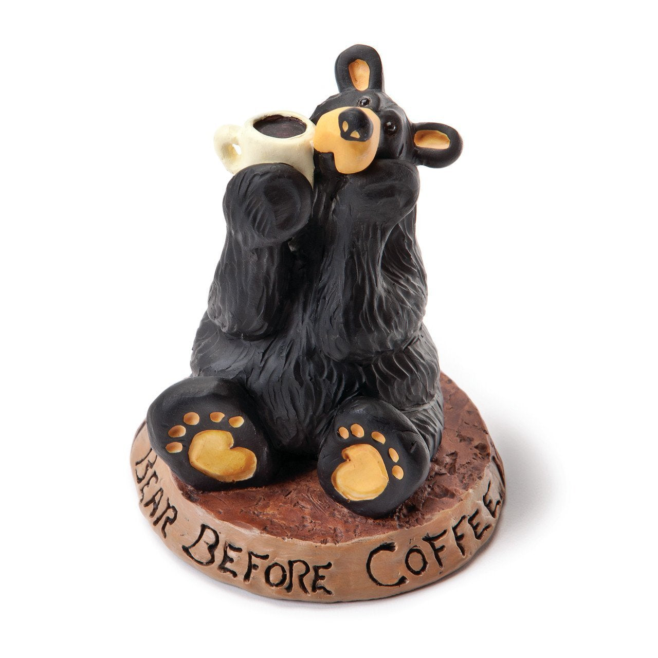 Coffee Bear Black Bear Hand-cast Resin Figurine Sculpture