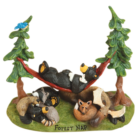 Big Sky Bearfoots Bears Forest Nap Figurine
