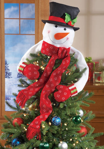 Christmas Hugging Snowman Tree Topper
