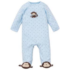 Baby Boys Clothes Newborn Monkey Star Footie