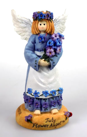 July Angel Figurine by Linda Grayson