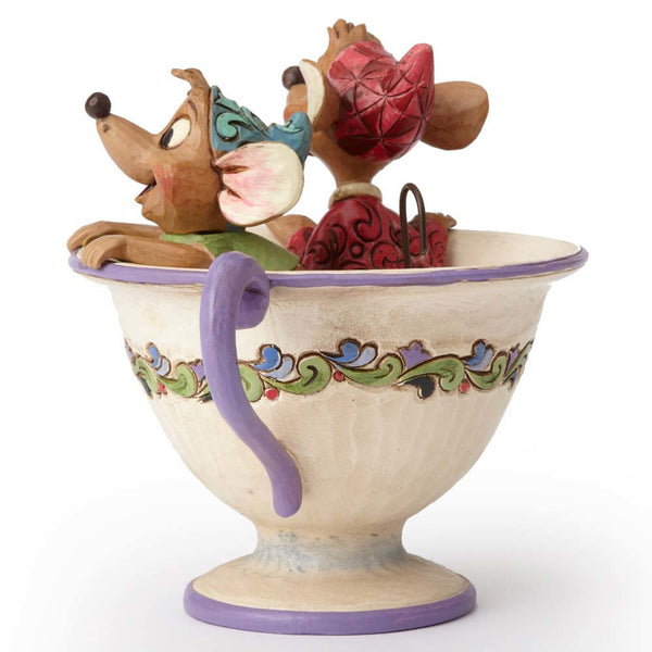 "Disney Traditions by Jim Shore ""Cinderella"" Jaq and Gus Teacup Figurine"