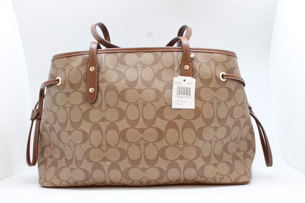 Coach Women's Hand shoulder bag F57842 Khaki /Brown