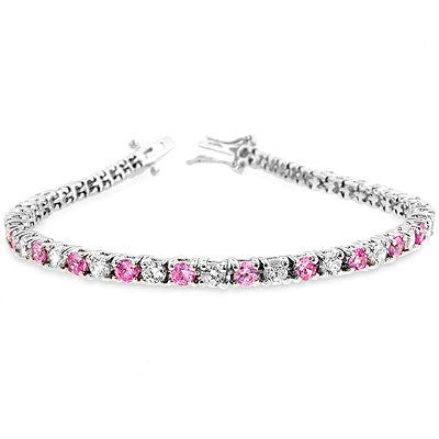 Jewelry | Pink Ice Crystal and Cubic Zirconia Tennis Bracelet