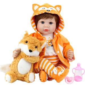 Baby Doll 22 Inch Realistic Lifelike Baby Doll Weighted Reborn Baby Girl with Fox