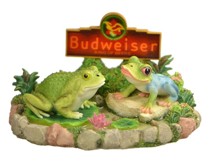 Figurines | Anheuser Busch Budweiser Frogs Boy Meets Girl Figurine