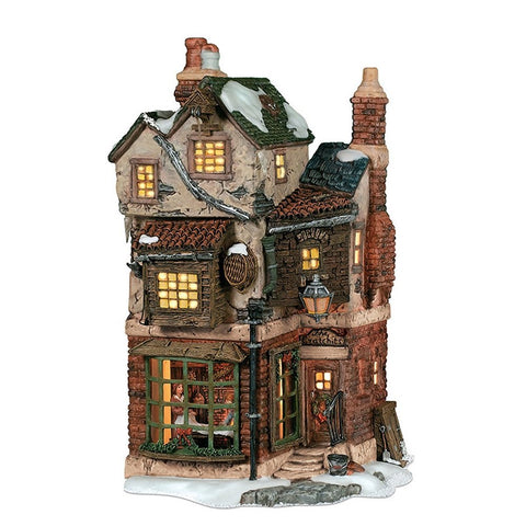 Department 56 Dickens' Christmas Village Cratchits Corner Lit Building