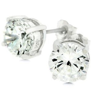 Jewelry | Sterling Silver Cubic Zirconia Stud Earrings 6.25mm